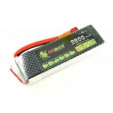 Аккумулятор LiPo Lion, 3s, 30C, 2800мАч