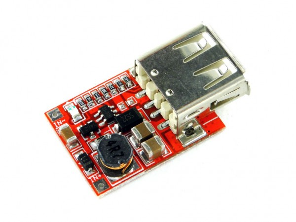 Преобразователь повышающий с USB, 5В, 1A