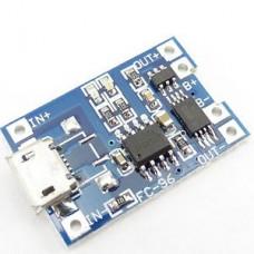 Зарядное устройство для аккумулятора Li-Ion, с защитой от переразряда, 1А