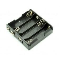 Корпус для четырех батарей AA, с разъемом типа крона и проводом