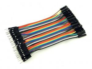 Провода вилка-розетка, 40шт, 10см