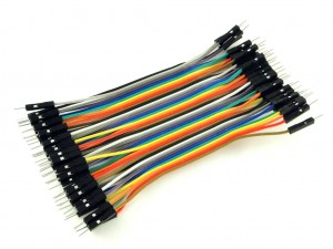 Провода вилка-вилка, 40шт, 10см