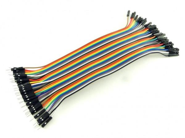 Провода вилка-розетка, 40шт, 20см
