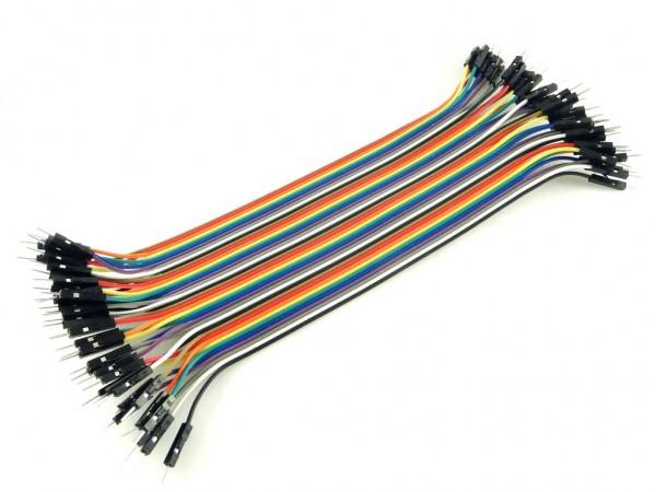 Провода вилка-вилка, 40шт, 30см