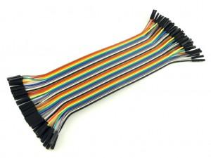 Провода розетка-розетка, 40шт, 20см