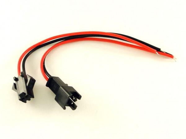 Разъем JST-SM с проводами, 2 контакта
