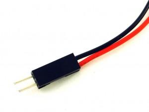 Разъем штыревой с проводами, 2 контакта