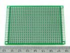 Макетная плата 6х8 см, двухсторонняя