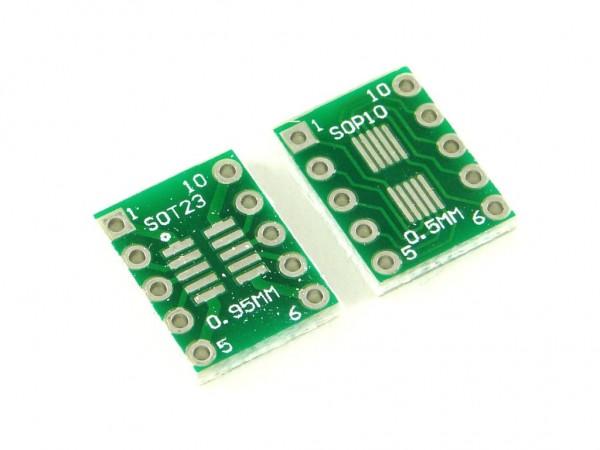 Макетная плата для микросхем SOP10 и SOT23