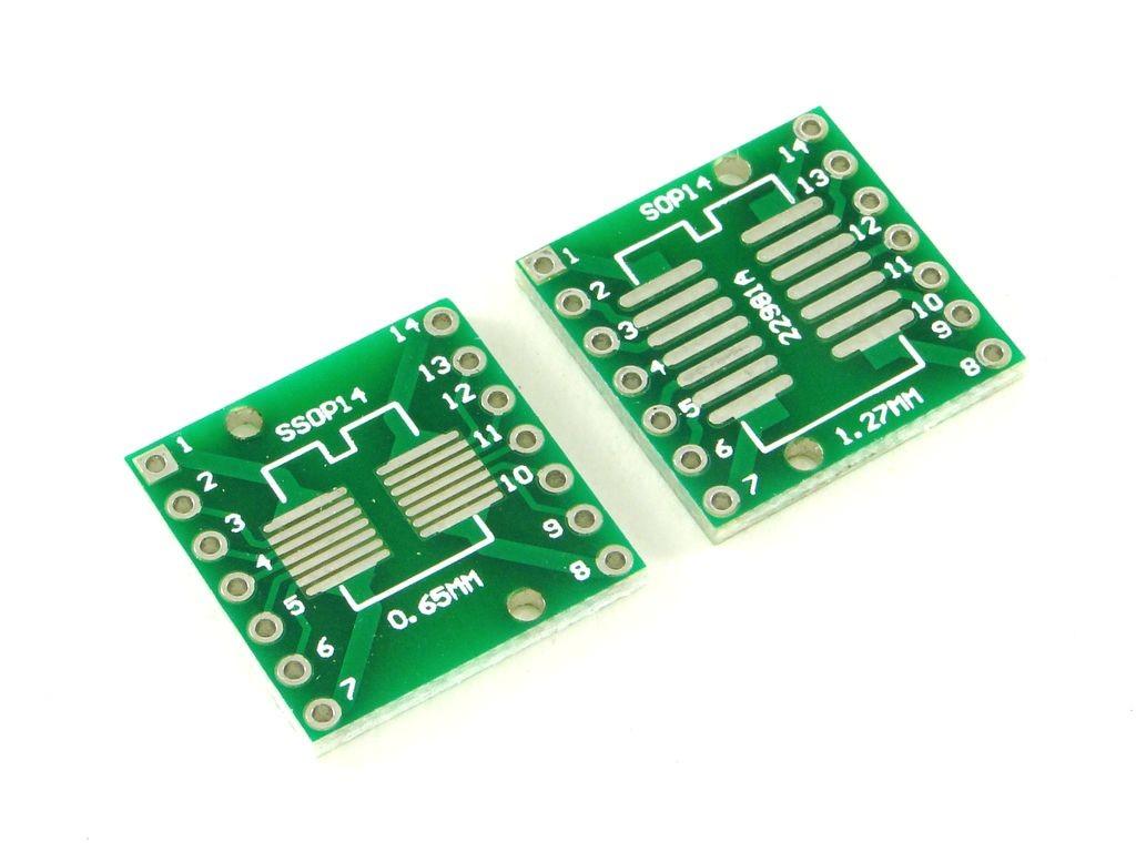 Макетная плата для микросхем SOP14 и SSOP14