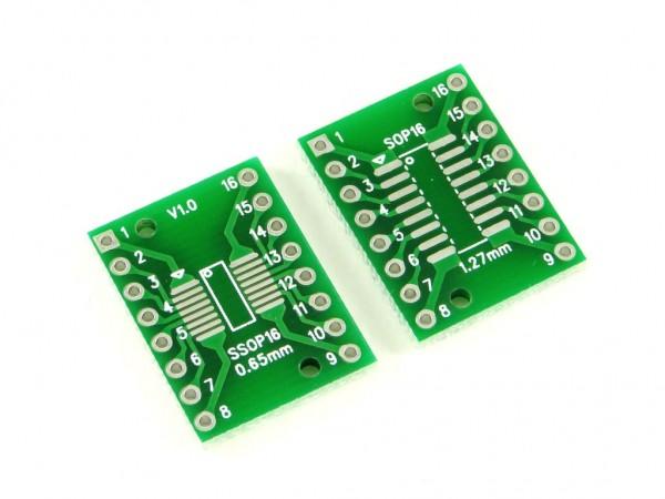 Макетная плата для микросхем SOP16 и SSOP16