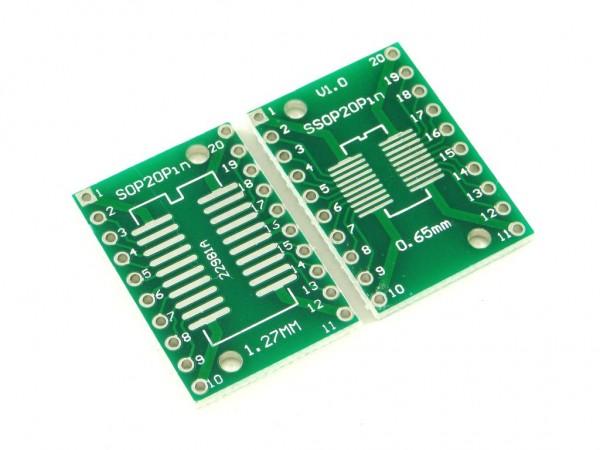 Макетная плата для микросхем sop20 и ssop20