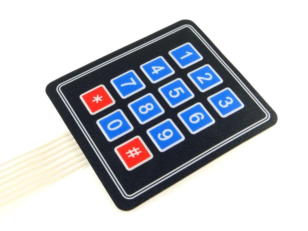 Мембранная клавиатура, 4x3