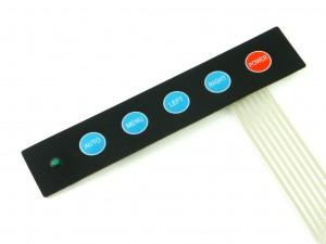 Мембранная клавиатура, 5 кнопок и светодиод
