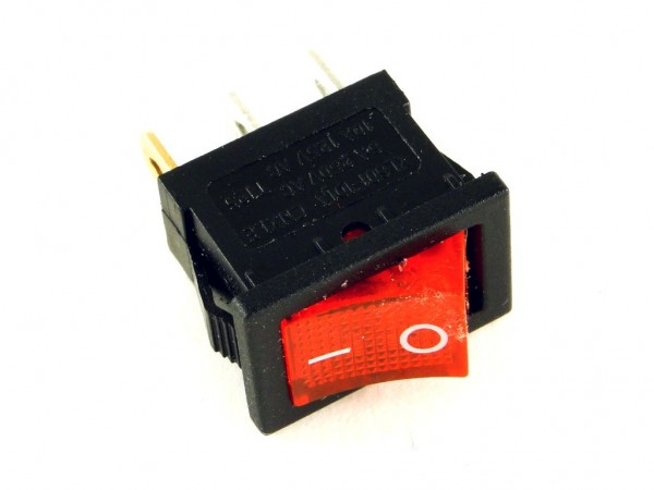 Клавишный переключатель CH1, красный