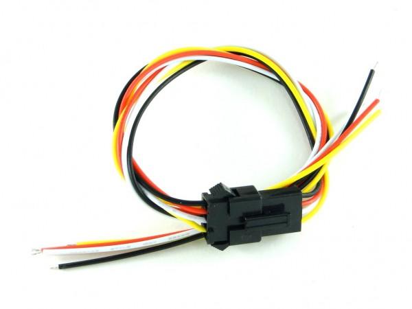 Разъем JST-SM с проводами, 4 контакта