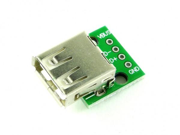 Разъем USB-A розетка на плате