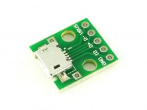 Разъем USB Micro-B на плате