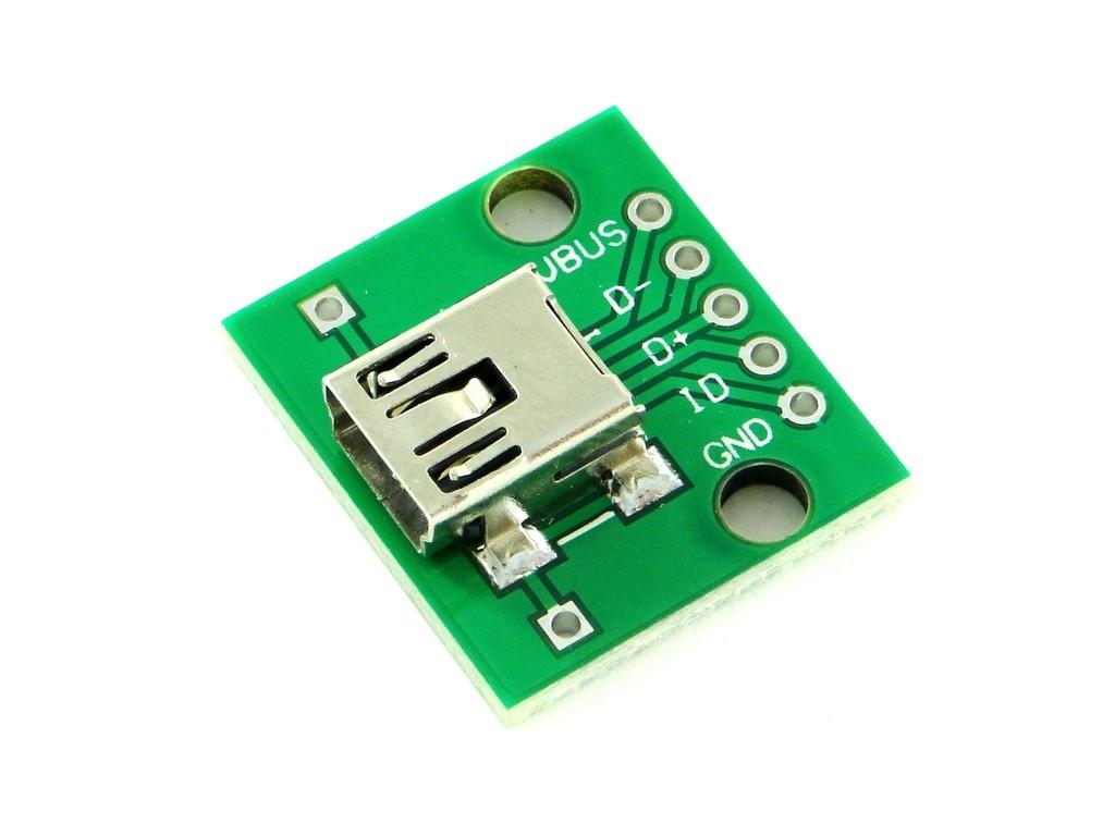 Разъем USB Mini-B на плате