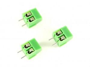Набор из 5 винтовых клемм на 2-контакта с шагом 3,5 мм
