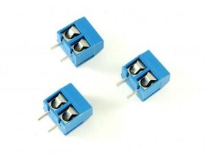 Клемма винтовая на 2-вывода с шагом 5 мм (3 штуки)