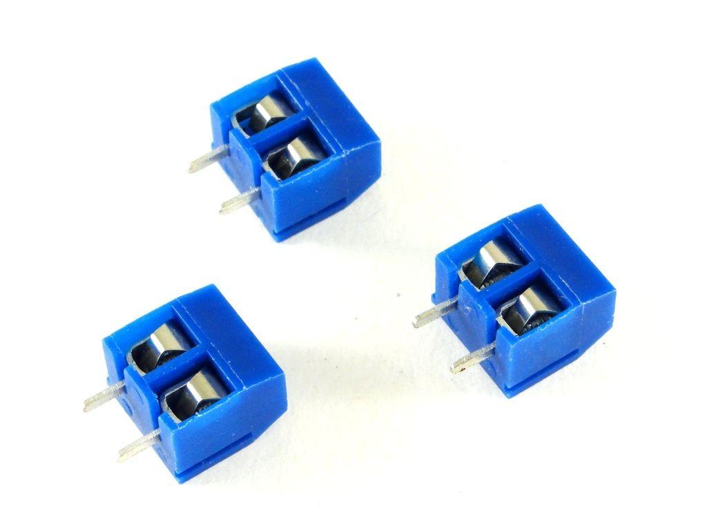 Набор из 5 винтовых клемм на 2-контакта с шагом 5 мм