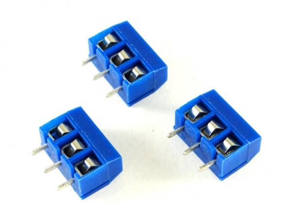 Набор из 5 винтовых клемм на 3-контакта с шагом 5 мм