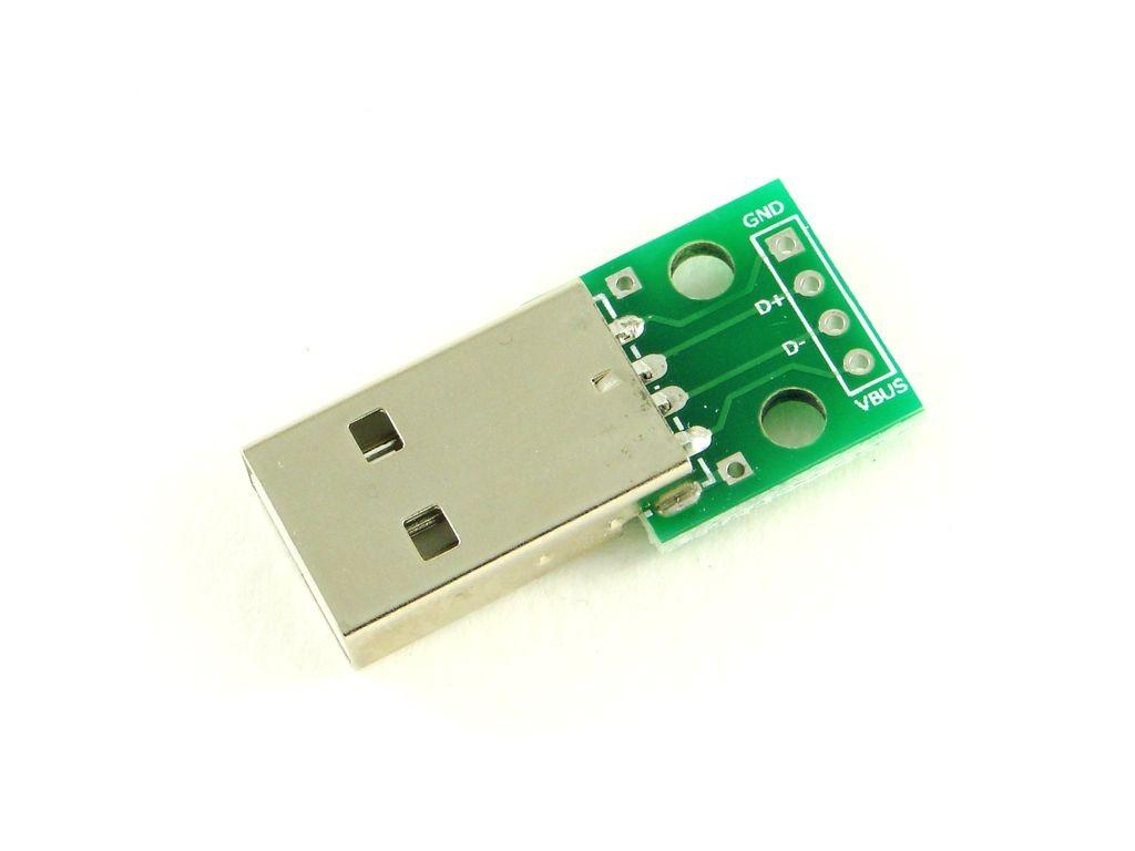 Разъем USB-A на плате