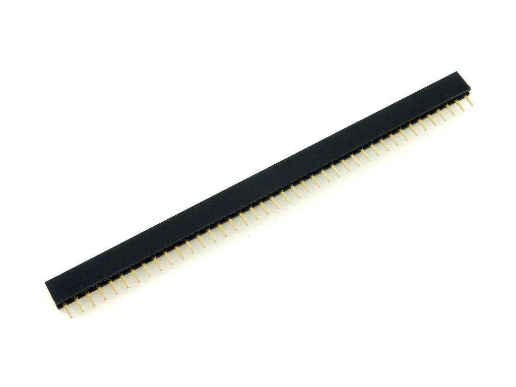 Разъем штыревой 40-pin, розетка, шаг 2.0