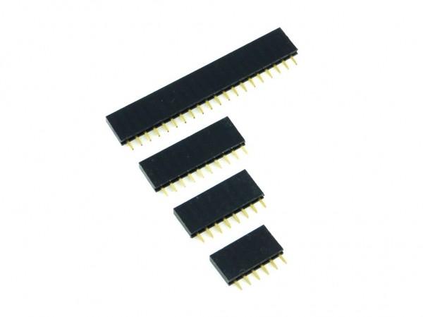 Разъем штыревой 10x1, розетка, шаг 2.54