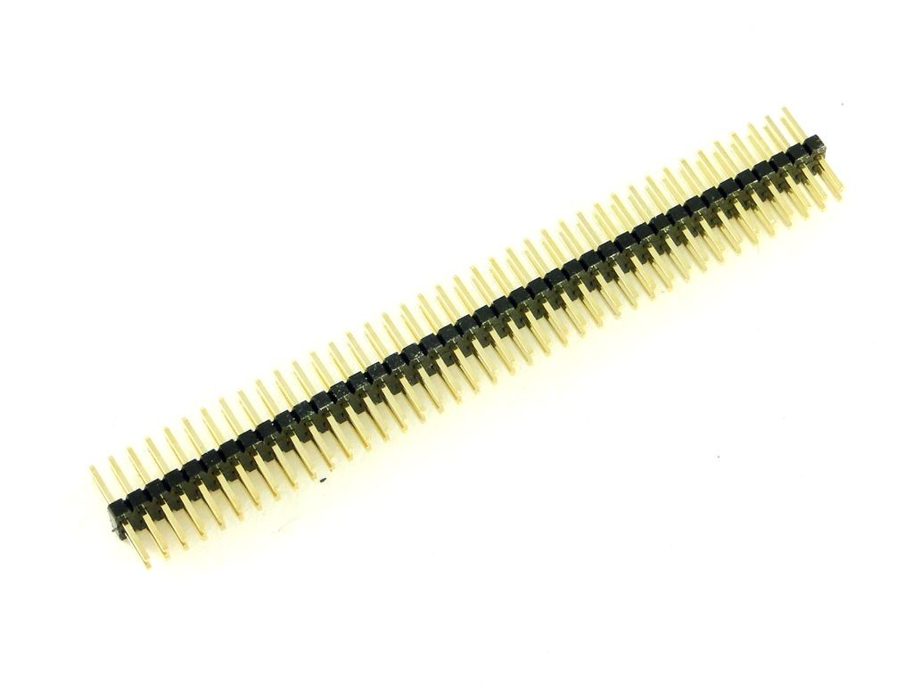 Разъем штыревой 40-pin, двойная вилка, шаг 1.27