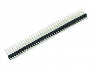 Разъем штыревой 40x2, двойная вилка, 15мм, шаг 2.54