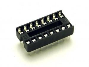 Набор из 5 сокетов для микросхемы DIP-16