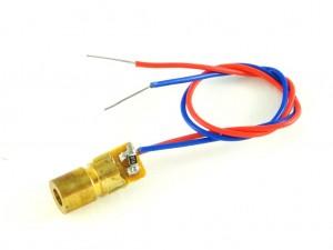 Лазерный модуль с линзой, точка, 5мВт