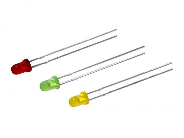 Набор светодиодов D=3мм, 4 цвета