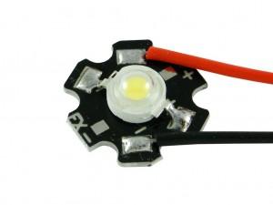 Светодиодный модуль с проводом 3 Вт, белый