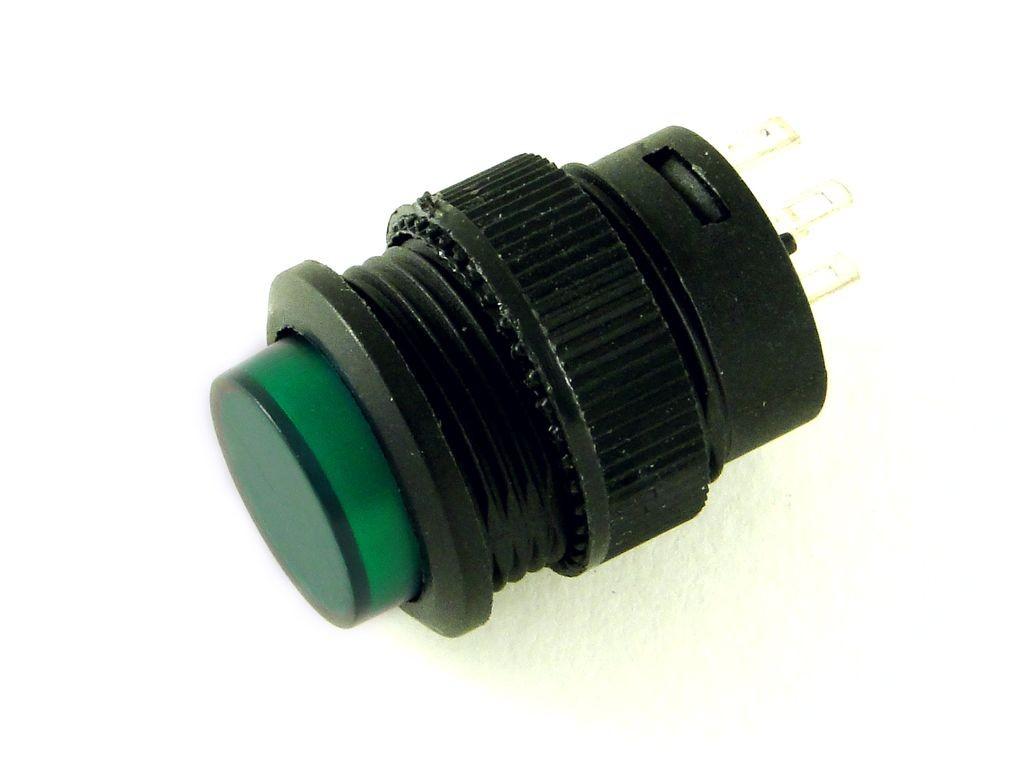 Кнопка с подсветкой и фиксацией CH5, 16мм