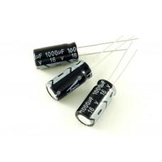 Конденсатор электролитический, 1000мкФ, 16В