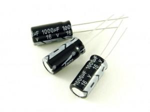 Конденсатор электролитический, 1000мкФ, 25В