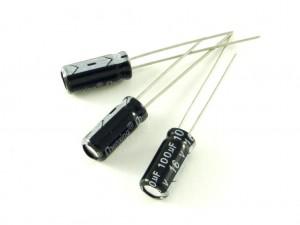 Конденсатор электролитический, 100мкФ, 25В