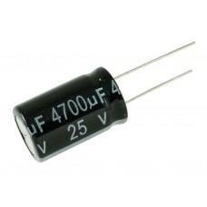 Конденсатор электролитический, 4700 мкФ, 25 В
