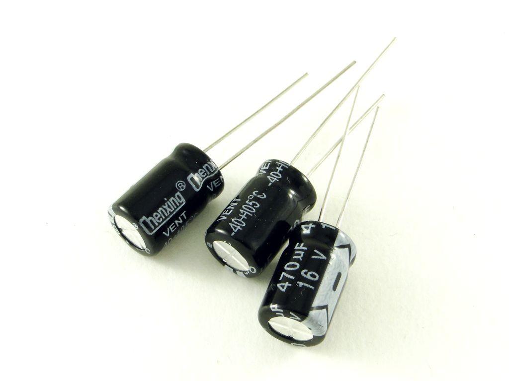 Конденсатор электролитический, 470мкФ, 25В