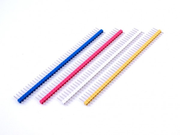 Разъем штыревой 40x1 цвет., вилка, шаг 2.54