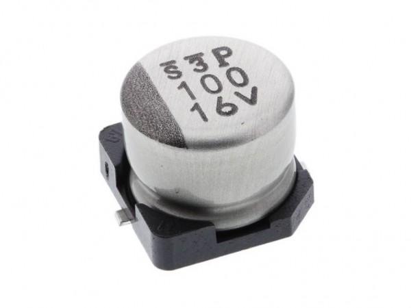 Конденсатор электролитический, SMD, 100 мкФ, 25 В