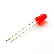 Светодиод красный, 5мм (5штук)