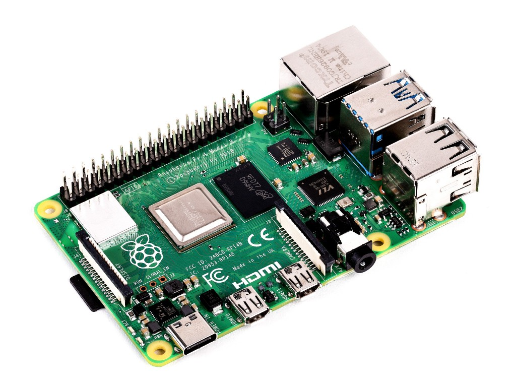 Микрокомпьютер Raspberry Pi 4 Model B (4 ГБ памяти)