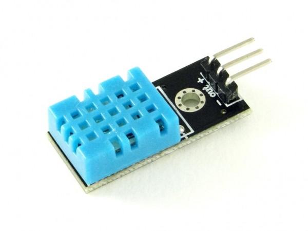 Датчик влажности и температуры  DHT11 (на плате)