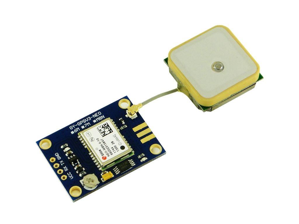 GPS/Глонасс модуль UBLOX NEO 8M, антенна на проводе