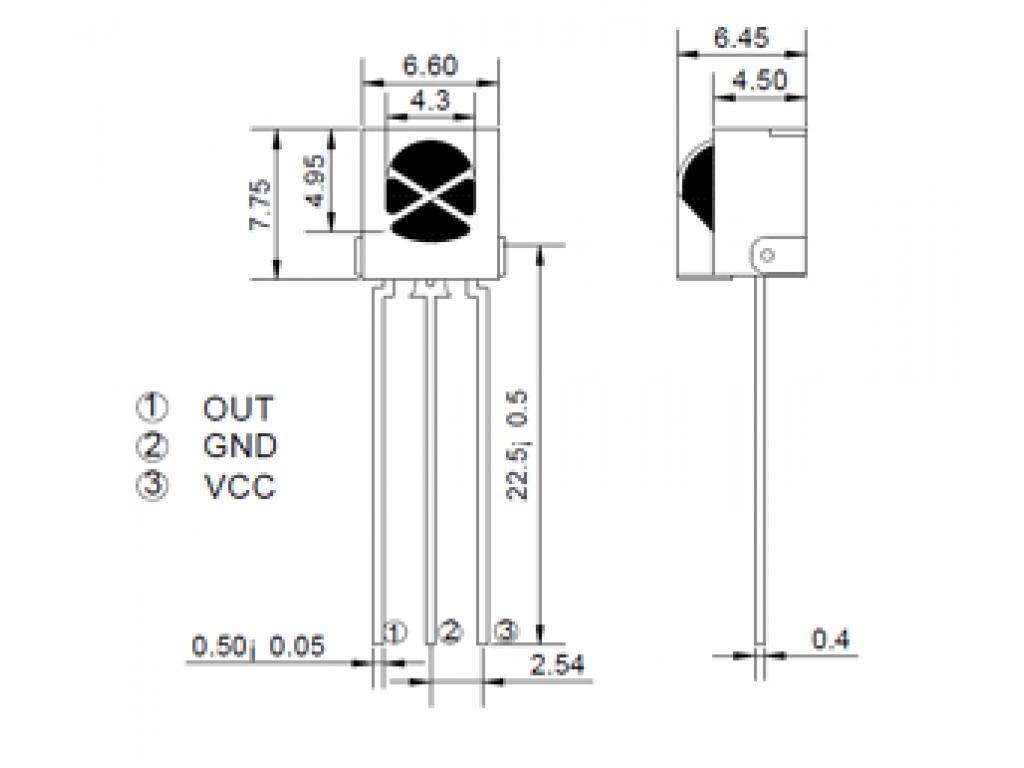 Инфракрасный приемник VS1838