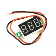 Вольтметр цифровой, зелёный, 2,7 - 32 В